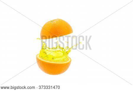 Orange Juice Distribution On White A Background