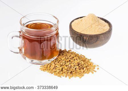 Fenugreek Seeds Or Methi Dana Drink By Soaking It In Water Overnight. Helpful In Weight Loss, Digest