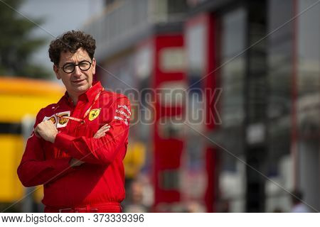 Monza, Italy. 6-8 September 2019. Formula 1 Grand Prix Of Italy. Ferrari Team Principal Mattia Binot