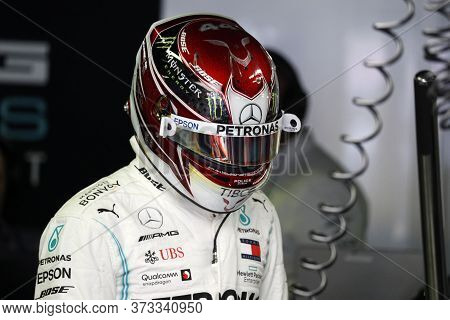 Monza, Italy. 7th September 2019. Formula 1 Grand Prix Of Italy. Lewis Hamilton Of Mercedes Amg Petr
