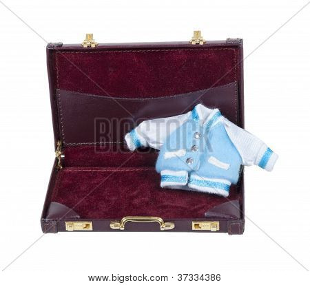 Baby Letterman Jacket In Briefcase