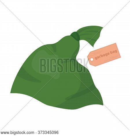 Garbage Bag. Packs Full Of Rubbish, Packets And Litter. Vector Cartoon Flat Illustration Isolated On