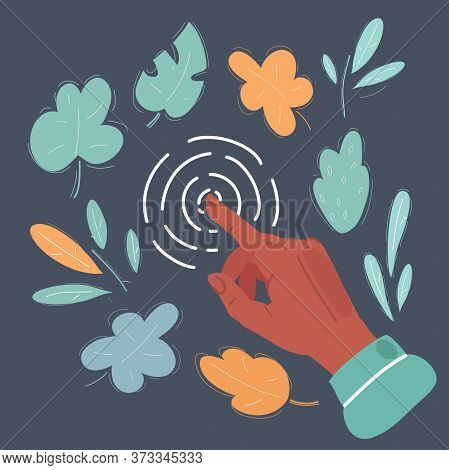 Vector Illustration Of Touch Screen Forefinger Gesture, Interface.