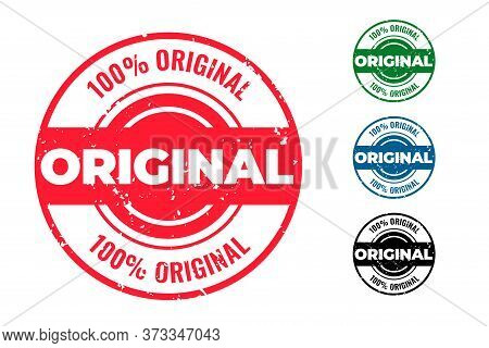 Original Circular Rubber Stamps Set Of Four