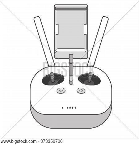 Drone Remote Control Handheld Screen Icon Vector
