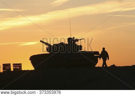 The Main Battle Tank Of The Russian Army T-72. The Legendary Russian Soviet Tank T-72. The Coolest T