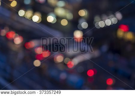 Colorful Bokeh Of A Blurred Street For Backgrounds