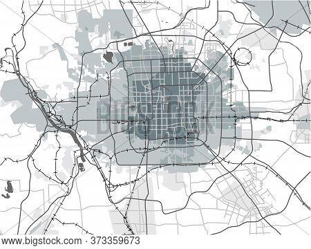 Map Of The City Of Peking, China