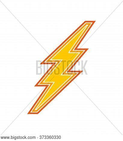 Lightning Flash Bolt Icon Sign .electricity Power With Lightning Flash Bolt Sign