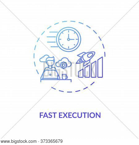 Fast Execution Blue Gradient Concept Icon. Trading Platform Strategy. Digital Transformation. Succes