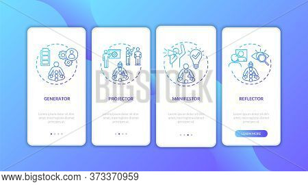 Energy Circulation Type Onboarding Mobile App Page Screen With Concepts. Body Channels. Human Design