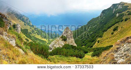 Mountain landscape in Transylvania Sinaia Cota 2000 Romania poster