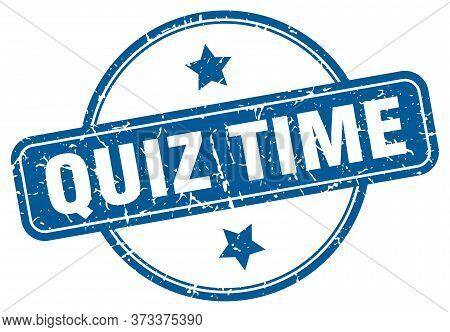 Quiz Time Grunge Stamp. Quiz Time Round Vintage Stamp