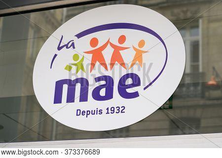 Bordeaux , Aquitaine / France - 06 01 2020 : Mae Sign Logo Of Mutuelle Assurance De L'éducation Of F