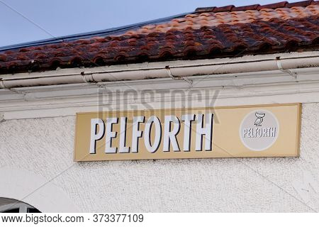 Bordeaux , Aquitaine / France - 01 15 2020 : Pelforth Logo Sign Local Bar French Brewery Pilsner Bee