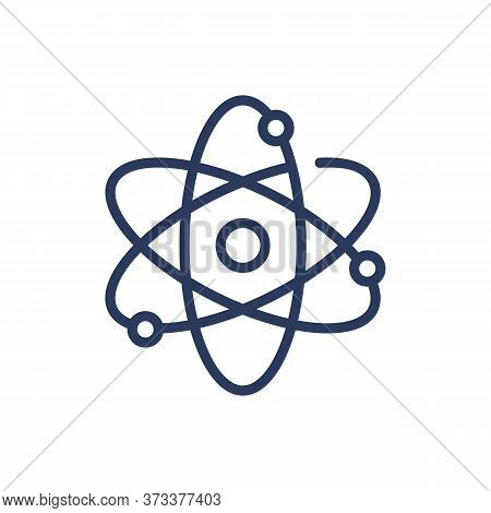 Molecule, Protons, Neutrons Thin Line Icon. Formula, Particle, Nucleus Isolated Outline Sign. Chemis