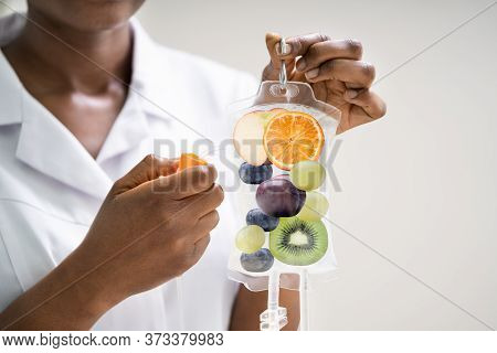 Iv Drip Vitamin Infusion Therapy Saline Bag