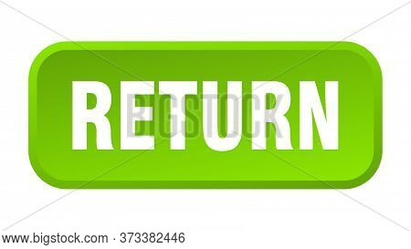 Return Button. Return Square 3d Push Button