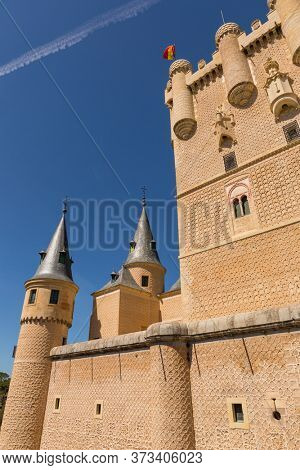 Details of the famous Alcazar castle of Segovia, Castilla y Leon, Spain