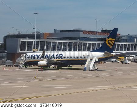 Bruxelles, Belgium - Circa June 2019: Ryanair Boeing 737-8as Plane
