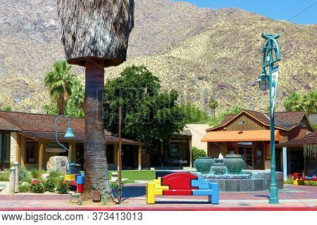 June 23, 2020 In Palm Springs, Ca:  Historic Adobe Buildings Where The First Settlers Built A Home A