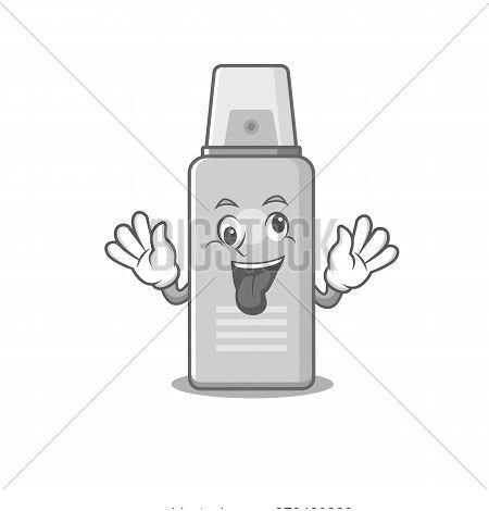 A Mascot Design Of Shaving Foam Having A Funny Crazy Face