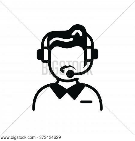Black Solid Icon For Customer-service Customer Service Call-center Helpline Operator Consultant Tele