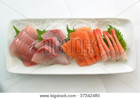 Raw fish called Sashimi
