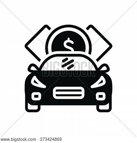 Black Solid Icon For Loan Indebtedness Debt Minus Loaning Borrow Car