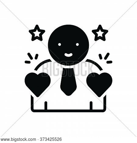 Black Solid Icon For Incorruptible Honest Upright Sincere Conscientious Scrupulous