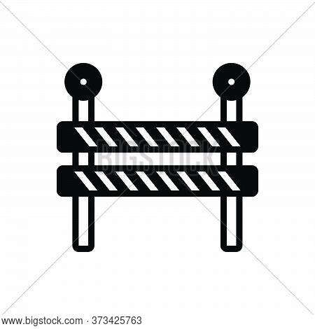 Black Solid Icon For Impediment Obstacle Obstruction Hindrance Interrupt Hindrance