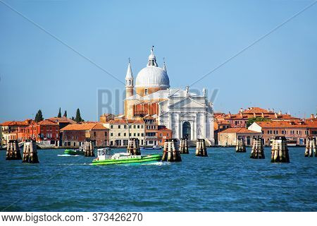 Basilica Del Santissimo Redentore On Giudecca Island In Venice, Italy. It Was Built As A Votive Chur