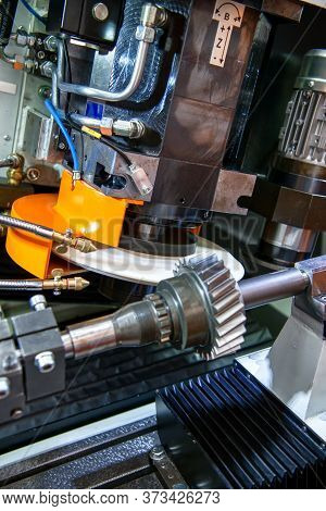 Cnc Machine For Grinding Gears. Modern Metalworking Equipment.