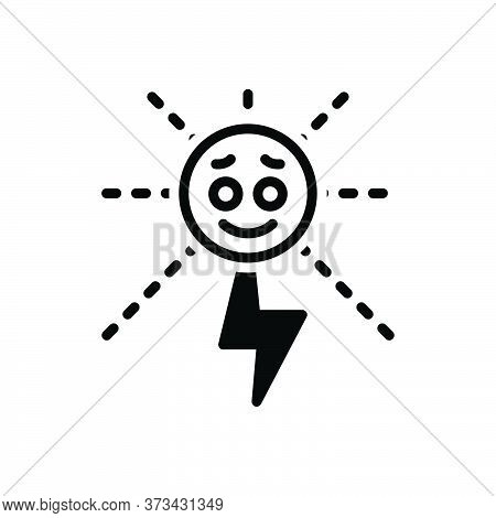 Black Solid Icon For Energy Strength Potency Vigor Mightiness Solar