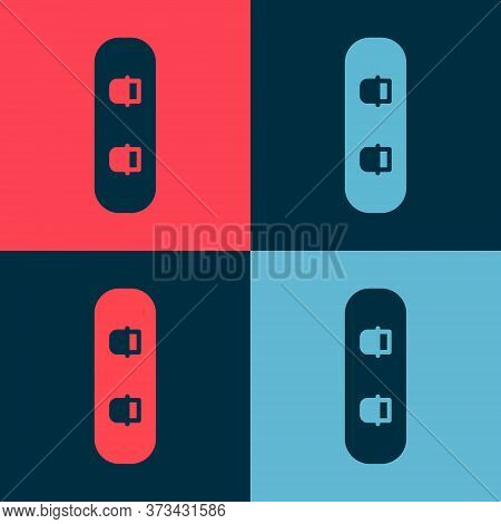 Pop Art Snowboard Icon Isolated On Color Background. Snowboarding Board Icon. Extreme Sport. Sport E