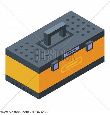 Tire Fitting Tool Box Icon. Isometric Of Tire Fitting Tool Box Vector Icon For Web Design Isolated O