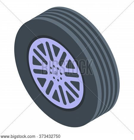 Suv Wheel Icon. Isometric Of Suv Wheel Vector Icon For Web Design Isolated On White Background