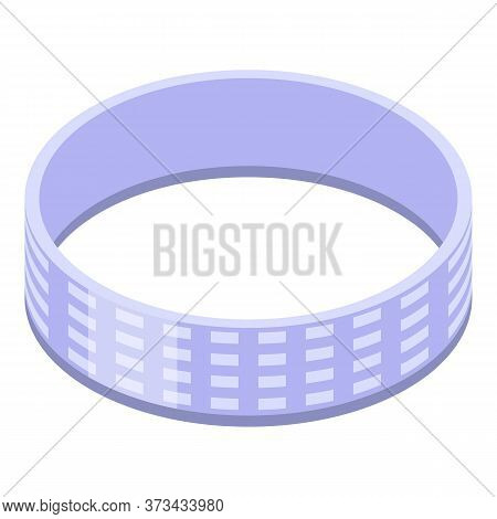 Brilliant Ring Icon. Isometric Of Brilliant Ring Vector Icon For Web Design Isolated On White Backgr