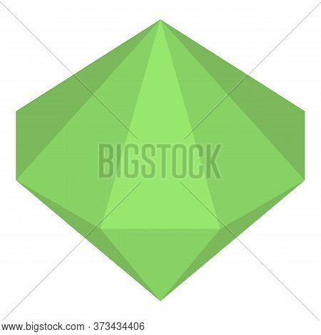 Green Emerald Icon. Isometric Of Green Emerald Vector Icon For Web Design Isolated On White Backgrou
