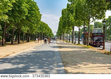 Champs Elysees Avenue In Paris, France - May 2019