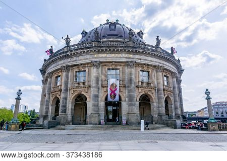 Bode Museum On Museum Island And Spree River, Berlin, Germany - May 2019