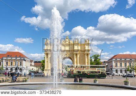 Brandenburg Gate (brandenburger Tor) In Center Of Potsdam, Germany - May 2019