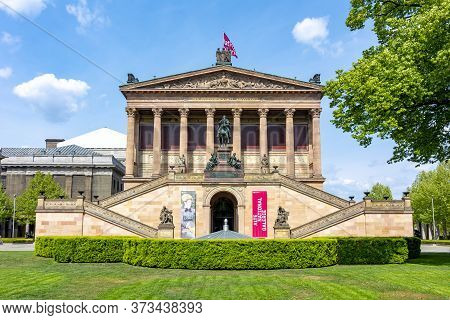 Old National Gallery (alte Nationalgalerie) On Museum Island, Berlin, Germany - May 2019