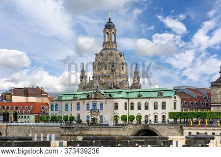 Frauenkirche (church Of Our Lady) Dome In Spring, Dresden, Germany