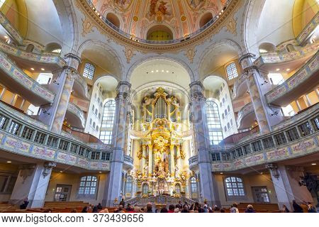 Interiors Of Frauenkirche (church Of Our Lady), Dresden, Germany - May 2019