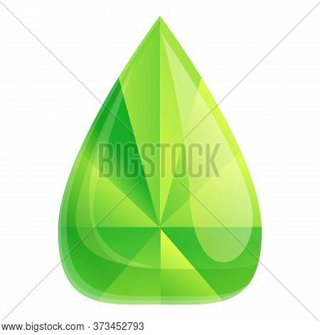 Luxury Green Gemstone Icon. Cartoon Of Luxury Green Gemstone Vector Icon For Web Design Isolated On