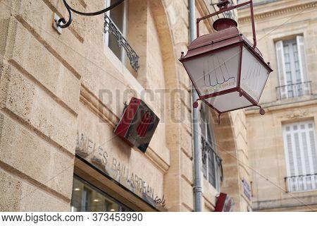 Bordeaux , Aquitaine / France - 10 17 2019 : Traditional Bordeaux Sweet Cake Called Canele Sign Stor