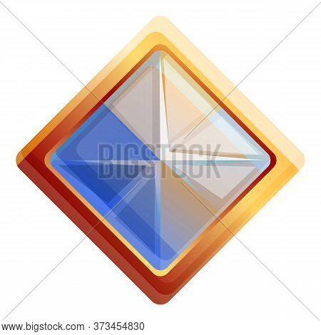 Amethyst Gem Icon. Cartoon Of Amethyst Gem Vector Icon For Web Design Isolated On White Background