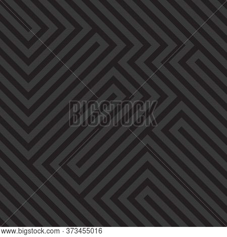 Optical Illusion Diagonal Black And White Pattern, Modern Op Art Geometric Abstract Background. Vect