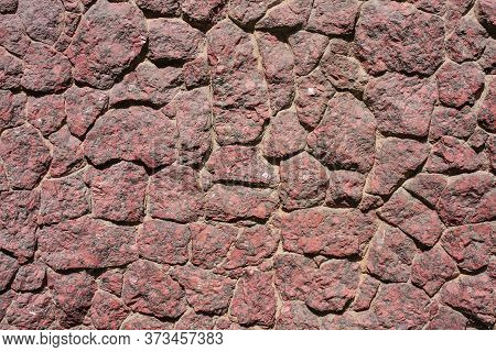 Masonry Texture. Background Image Of Granite Masonry. Texture For The Exterior. Wallpaper Detailed T